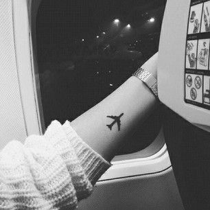 tattoos-for-women-airplane