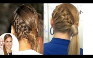 JESSICA ALBA pigtail with elegant and casual braid