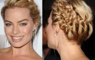 Margot Robbie hairstyle with braids