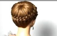 Peinados con trenzas de lado