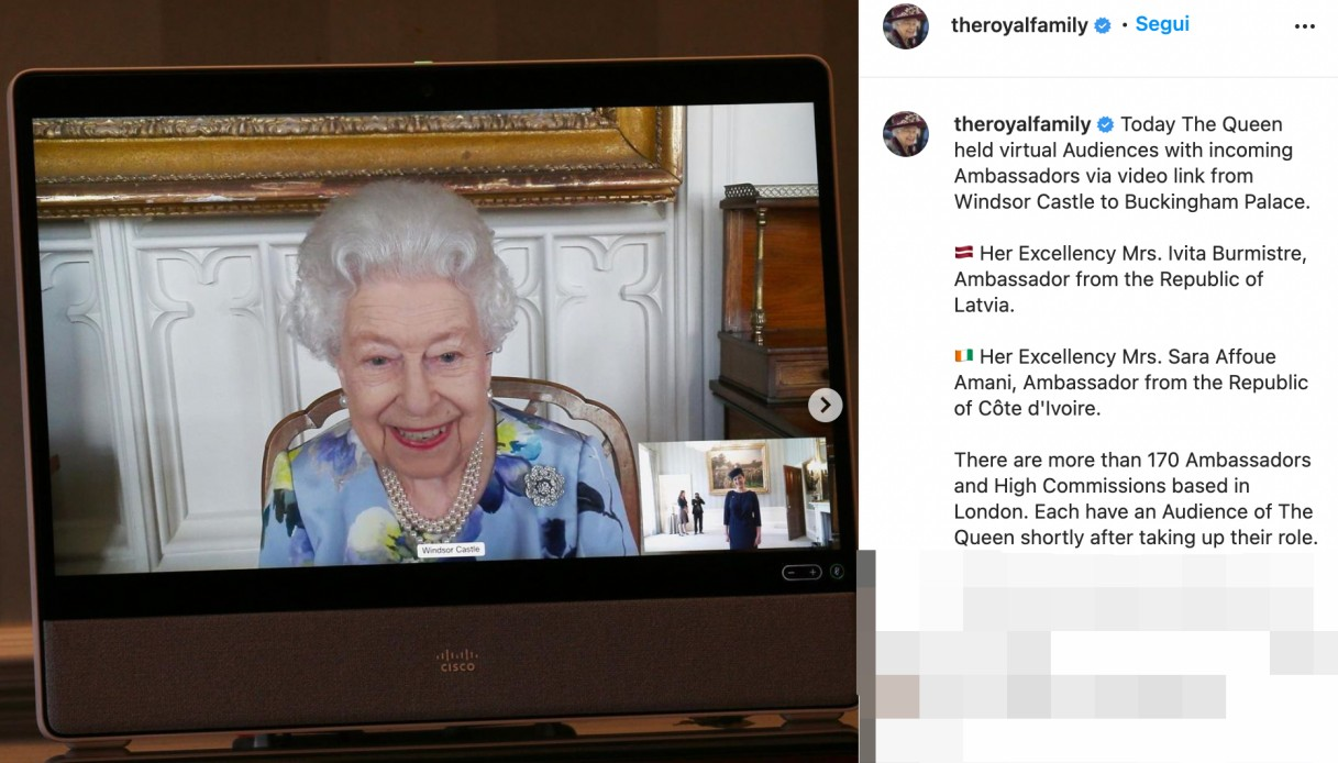 Queen Elizabeth on Instagram
