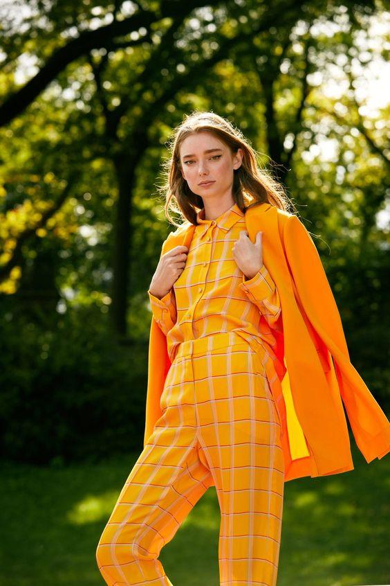 orange color trend spring 2021